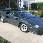 "One Owner 1988 Lamborghini Countach 5000 QV: Incredibly Rare Factory Color Canna Fucile ""Grey"" #22680"